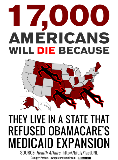 17,000 people will die because Republican states refused Medicaid expansion